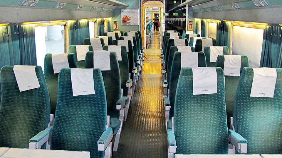 Korean High Speed Train KTX Economy Class (img 2)