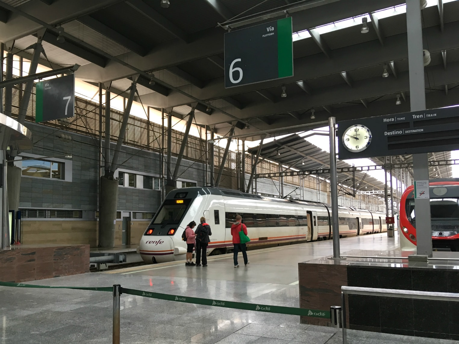 Platform of the Maria Zambrano Station